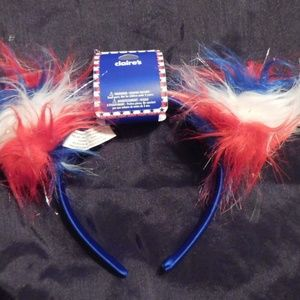 RED,WHITE,BLUE HEADBANDS 10 IN BAGS